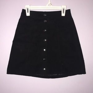 Teen size 2 black button down skirt